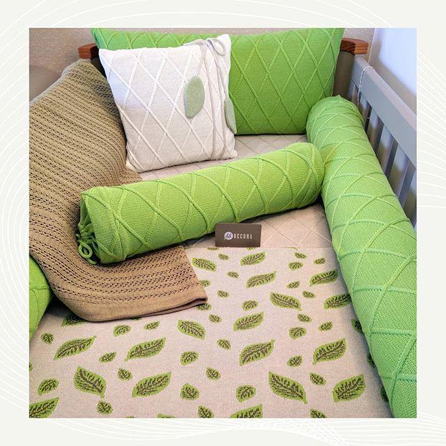 Kit Berço em tricot Greenery 3 - 6 peças
