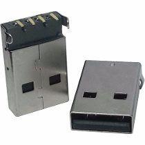 conector usb macho 90 graus yh usb05a autocore robótica arduino
