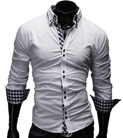 Camisa Social Masculina Slim Fit Estilo Alemão cb6912d42b391