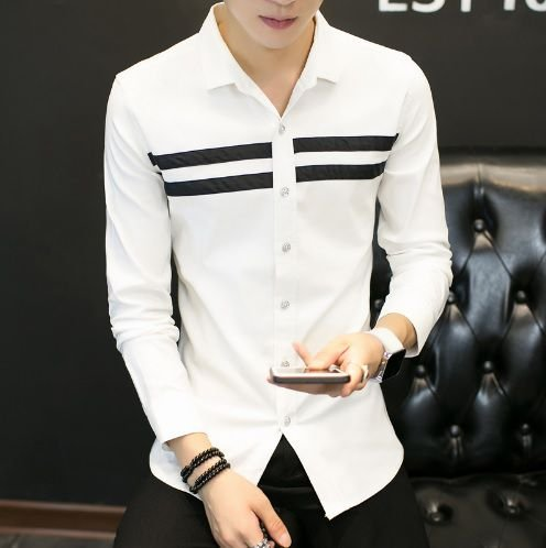 5892070a90 Camisa Social Slim Fit Manga Longa Estilo Ocidental - Lojas Norton