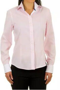 eeedc083b Camisa Feminina Elegante Rosa Bebê - Lojas Norton