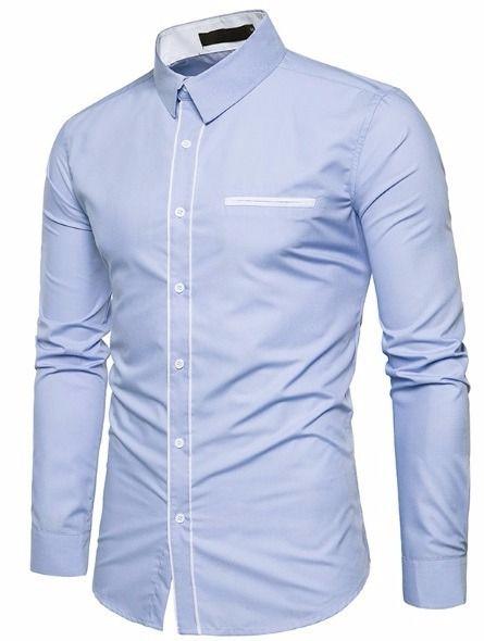 082e683c87 Camisa Social Masculina Slim Estilo Europeu - Lojas Norton