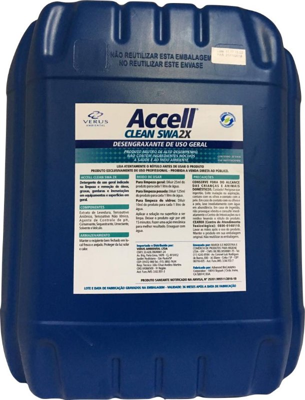 Accell® Clean SWA 2x - 20 Litros