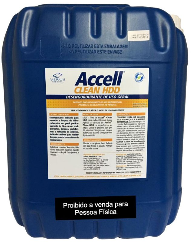 Accell® Clean HDD - 20 Litros