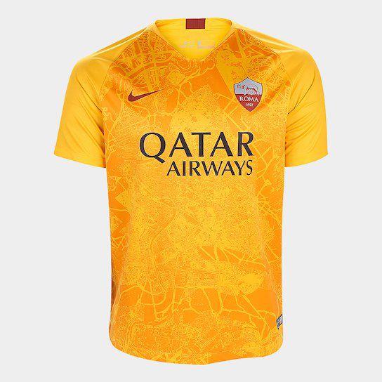 Camisa Roma Third 2018 s n° Torcedor Nike Masculina Amarelo - Mundo ... c1c38490e7517