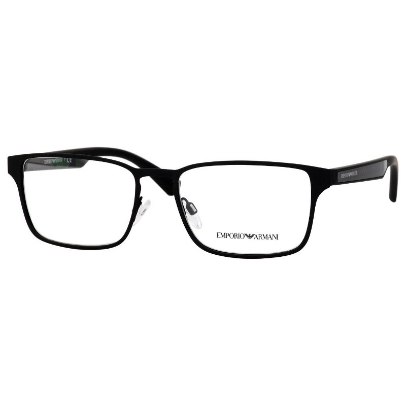 c58e9a10d57dd Armação de Óculos Masculino Emporio Armani EA1063 Metal Preto Fosco Médio -  Óculos de Grau - Armação de Óculos - Masculino - Feminino - Univisão