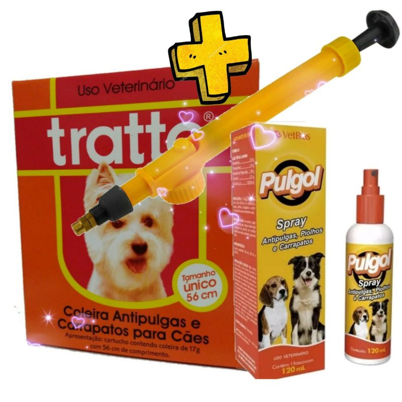 Coleira Antipulgas - Antipulgas Spray - Pulverizador + Brinde