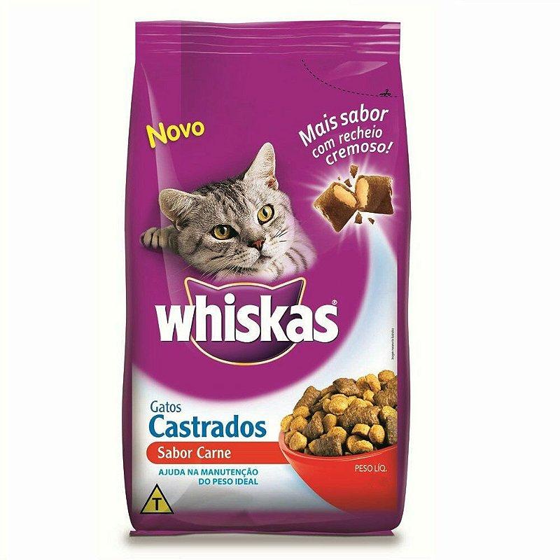 whiskas castrados - racao gato castrado