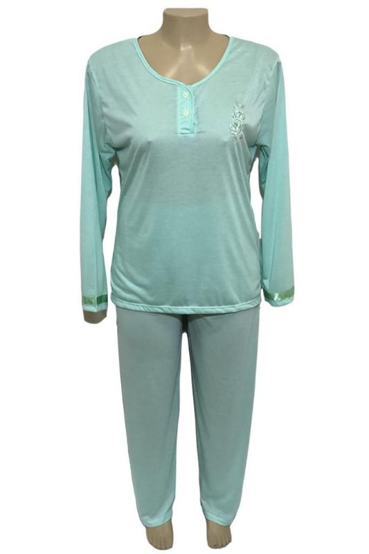 Pijama Plus Size com Dois Botões