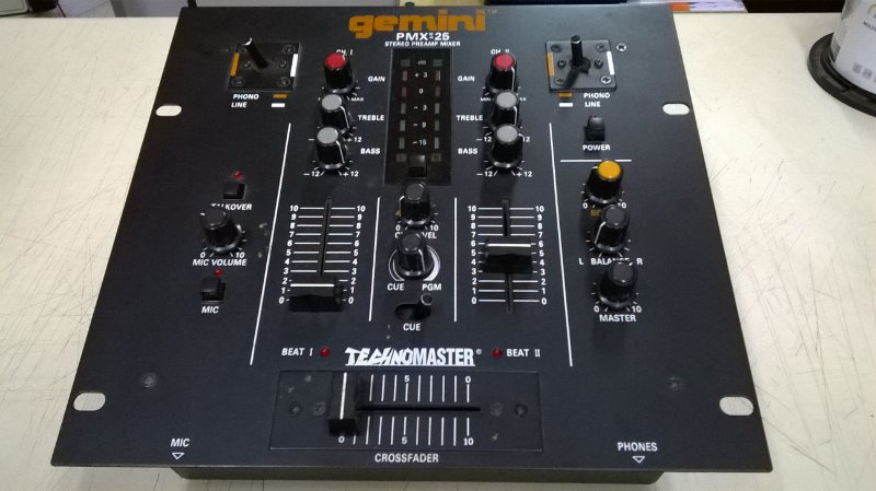 STEREO PRE-AMP MIXER PMX-25 / GEMINI Semi-novo, praticamente sem uso