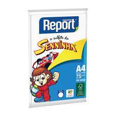 Papel sulfite A4 Report Senninha 75 G BR CX. C 100 fls