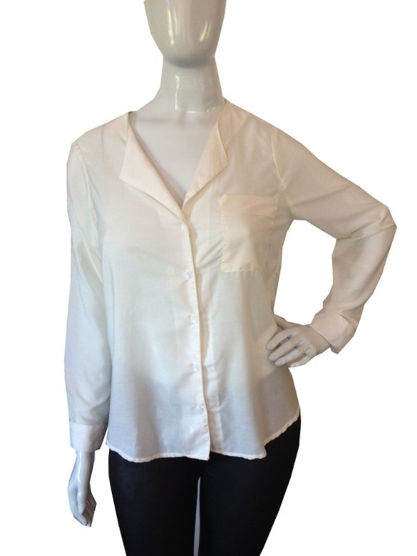 Camisa feminina off white