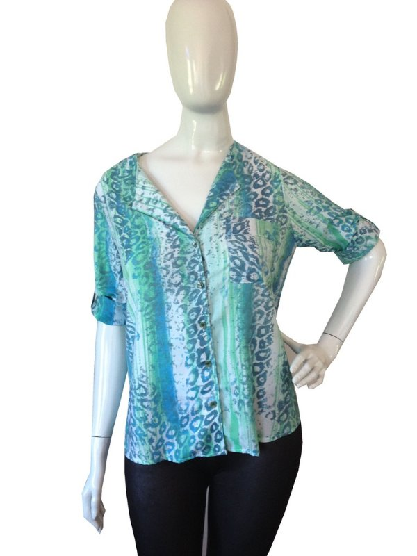 Camisa onça esmeralda