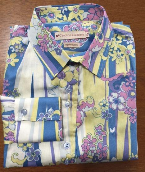 Camisa manga longa algodão egípcio estampada
