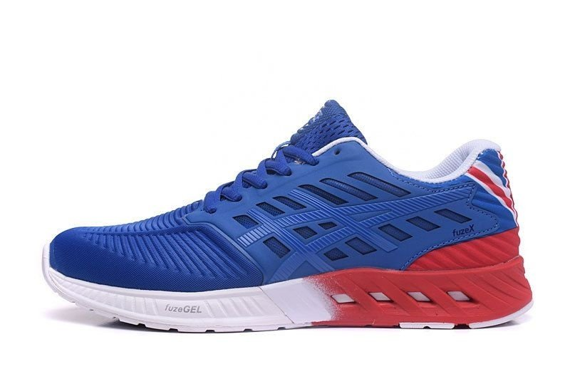 Tênis Asics FuzeX - Masculino - Azul e Vermelho - Shoes Hub - Seu ... 2333680461e47