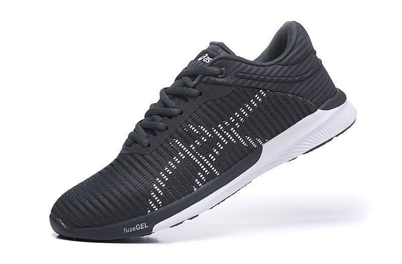 8982e53d18 Tênis Asics FuzeX Rush Adapt - Masculino - Preto e Branco - Shoes ...