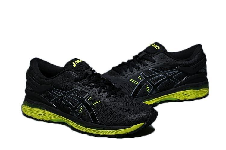 cc7910b972 Tênis Asics Gel Kayano 24- Masculino - Preto e Verde - Shoes Hub .