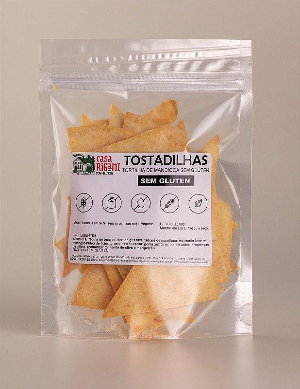 TOSTADILHA - Tortilha de mandioca sem glúten - 3 Pacotes 110g cada