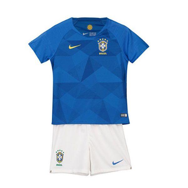 Conjunto Infantil Seleção Brasil Away 18 19 Torcedor Nike Unissex Blue 12 3bb09d48487