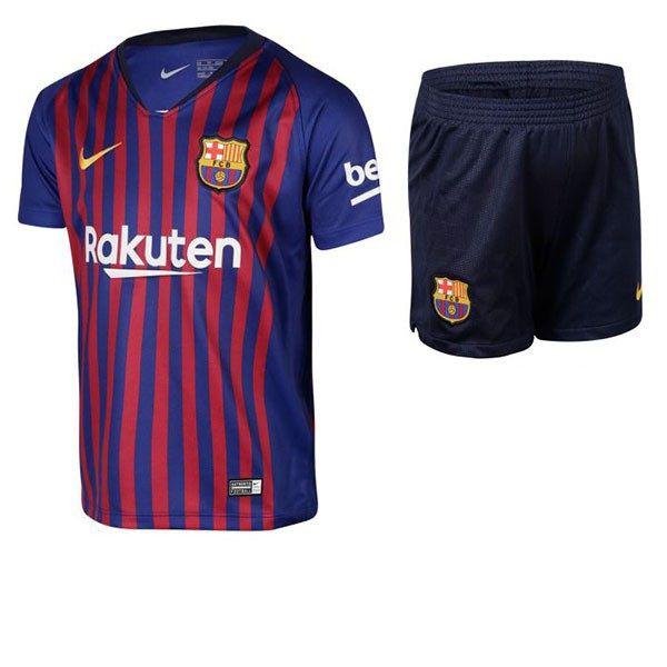 Conjunto Infantil Barcelona Home 18 19 Torcedor Nike Unissex Azul Stiletto 4 10f2d1cc11dbb
