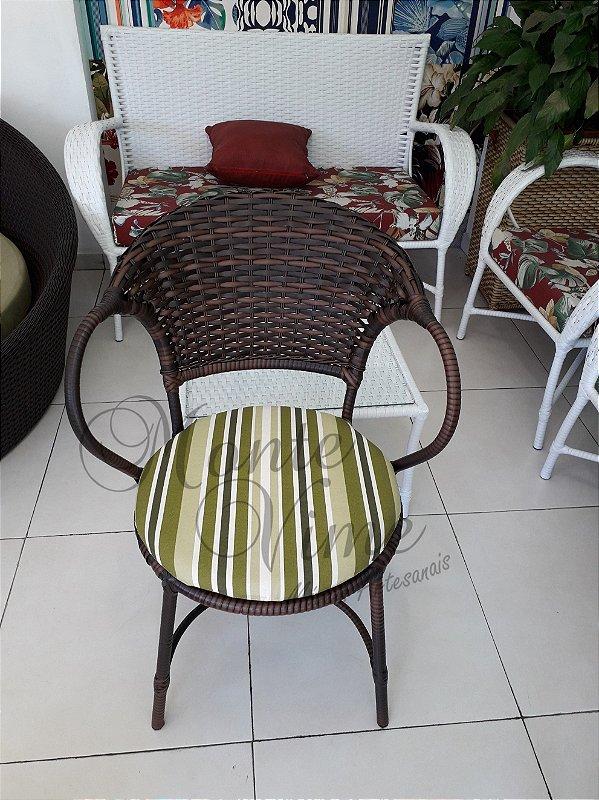 Cadeira Arcobalena com almofada removível