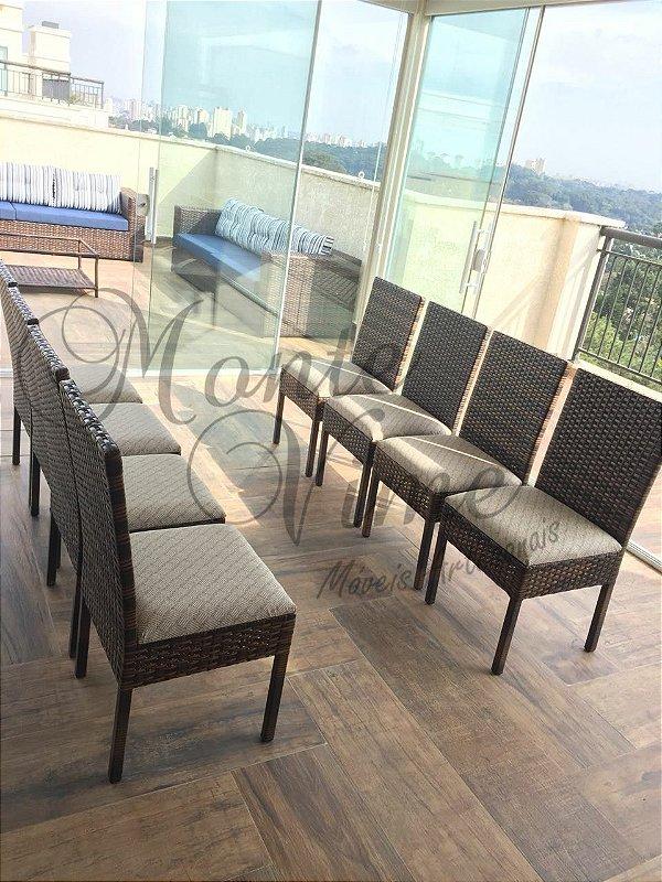 Cadeira Quadrada Mispa com assento fixo