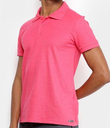 4eba921be1 Polo básica Masculina Kohmar pink - LoKa