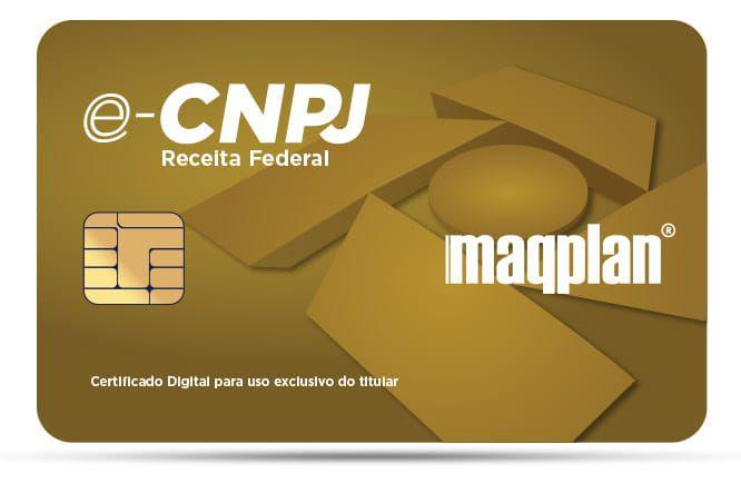 Certificado Digital e-CNPJ A2 - CARTÃO