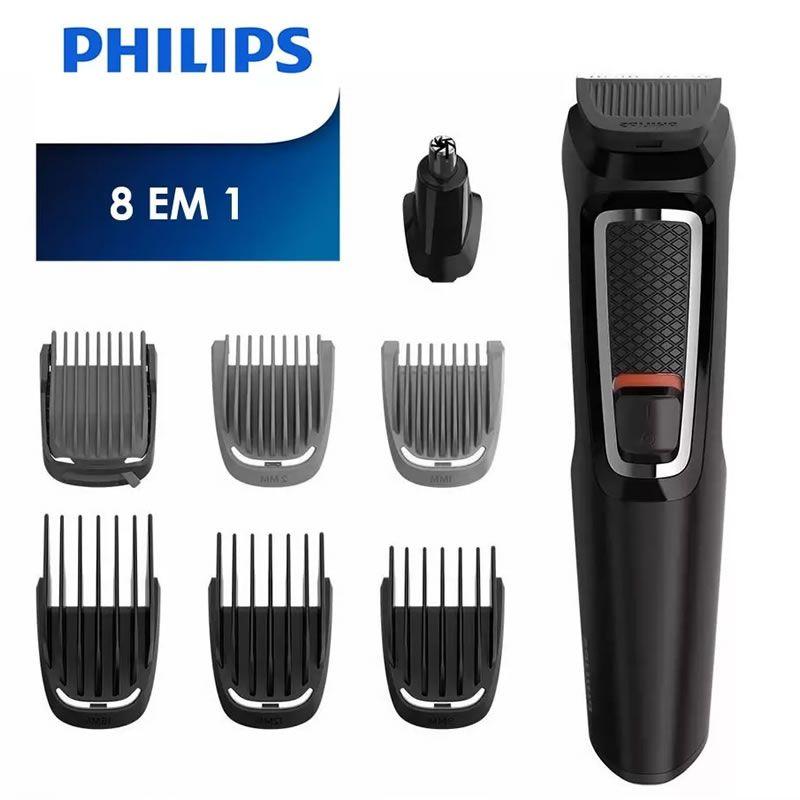 0238c40ff Kit Philips Barbeador E Aparador De Pelos Multigroom 8 Em 1. Kit Philips  Barbeador E Aparador De Pelos Multigroom ...