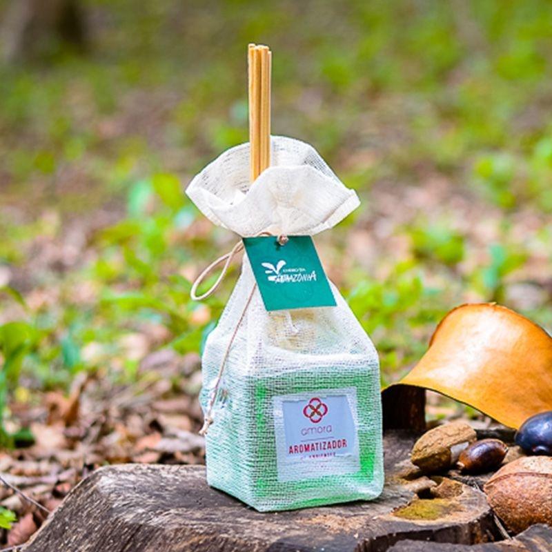 Aromatizador de Ambientes Cheiro da Amazônia 350 ml - Difusor Varetas