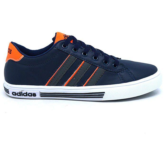564ba52d136 Tênis Adidas Daily Team K Azul Marinho e Laranja - GSEXPRESS