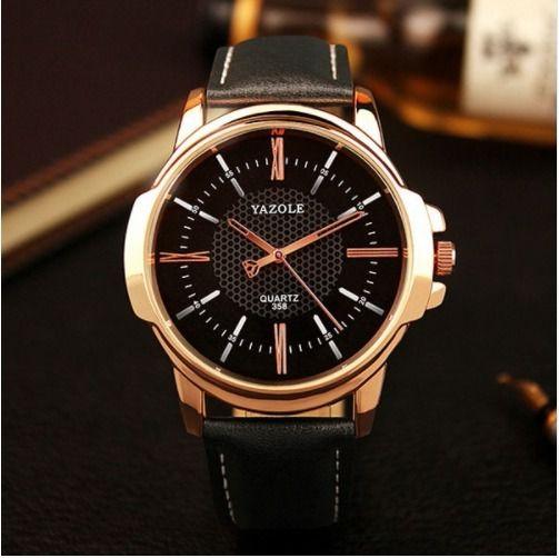 eb5b7d95040 Relógio De Pulso Masculino Yazole Social Pulseira De Couro - GSEXPRESS