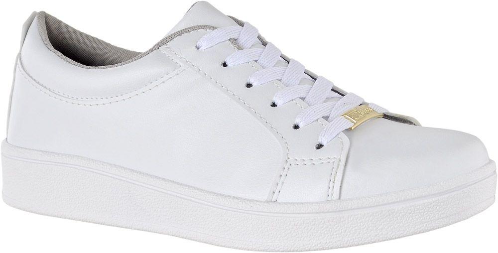 837ec2fe218 Tênis Casual Feminino Branco Leve e Confortável