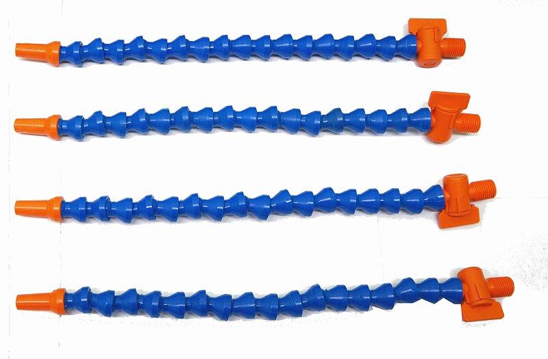 Flexível para regrigeração 1/4 30 cm - com bico e registro