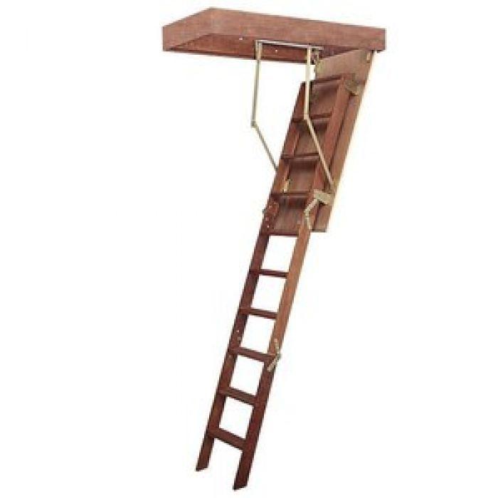 Escada de Sotão desvão de madeira altura teto até 3,00 Metros - Vão de 70 x 119cm