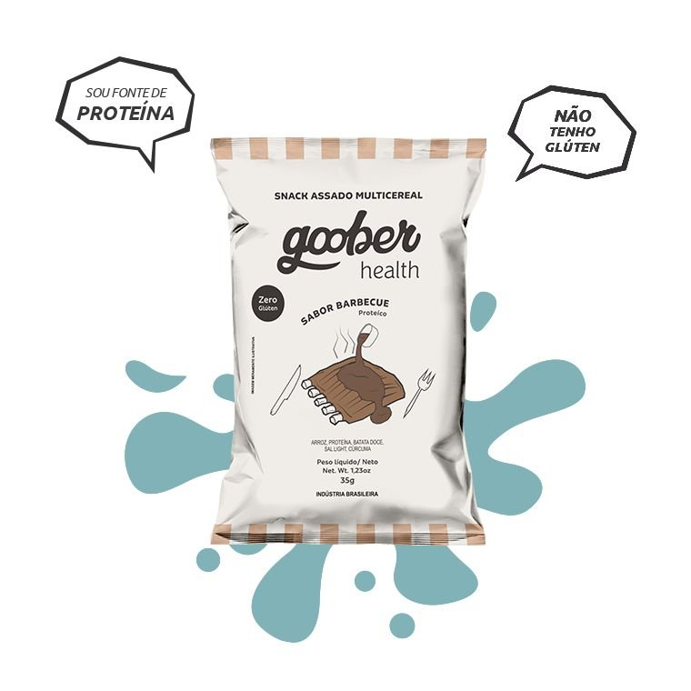 Snack Multicereal Goober - Sabor Barbecue 35g