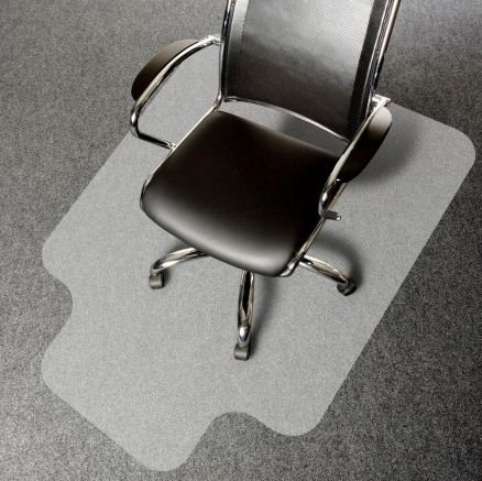 Protepiso Tapete Protetor de Piso Para Cadeira De Rodinha - Transparente 85cm x 120cm Kapazi