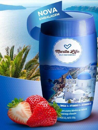 Marita Life Bala Mediterrânea -  Marita Life com Ômega 3 + Vitaminas A, E e D +