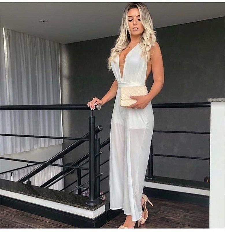 Vestido Longo Perolado