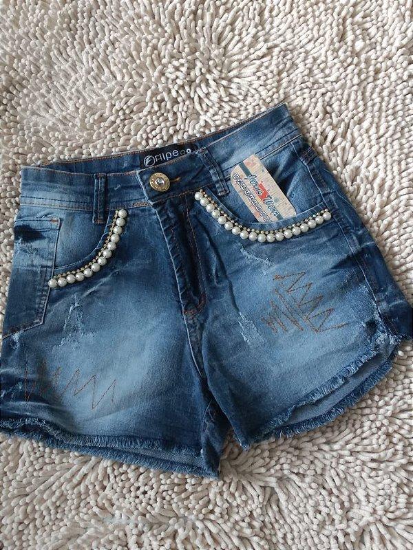 Short Jeans - Com Lycra