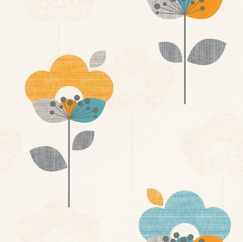 Papel De Parede Tic Tac II 10x0.53m Floral Verde