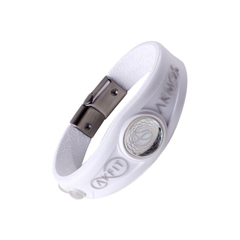 Pulseira Bracelete Akmos I9 Magnetica Equilibrio Bem Estar - Polar White