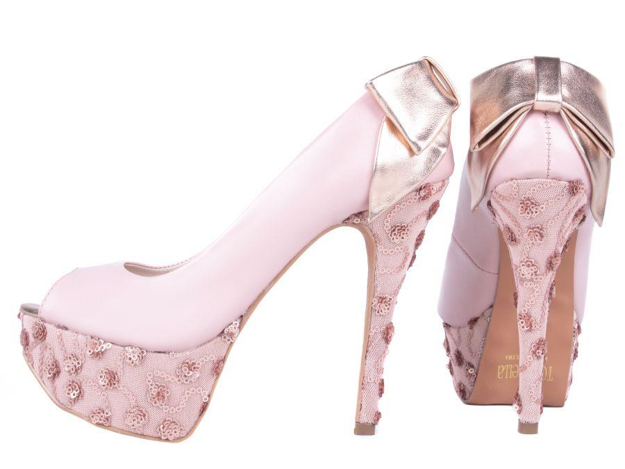 Sapato Meia Pata   Laço  Metalizado