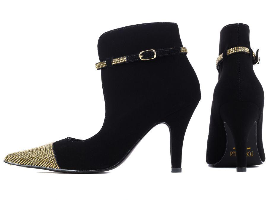 Sapato Scarpin  Strass  Ouro