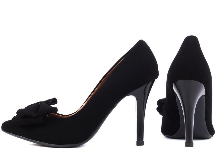 Sapato Scarpin   Nobuck Preto