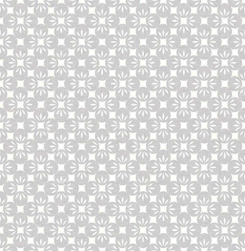 Papel De Parede Twist 10x0.52m Floral Cinza Escuro
