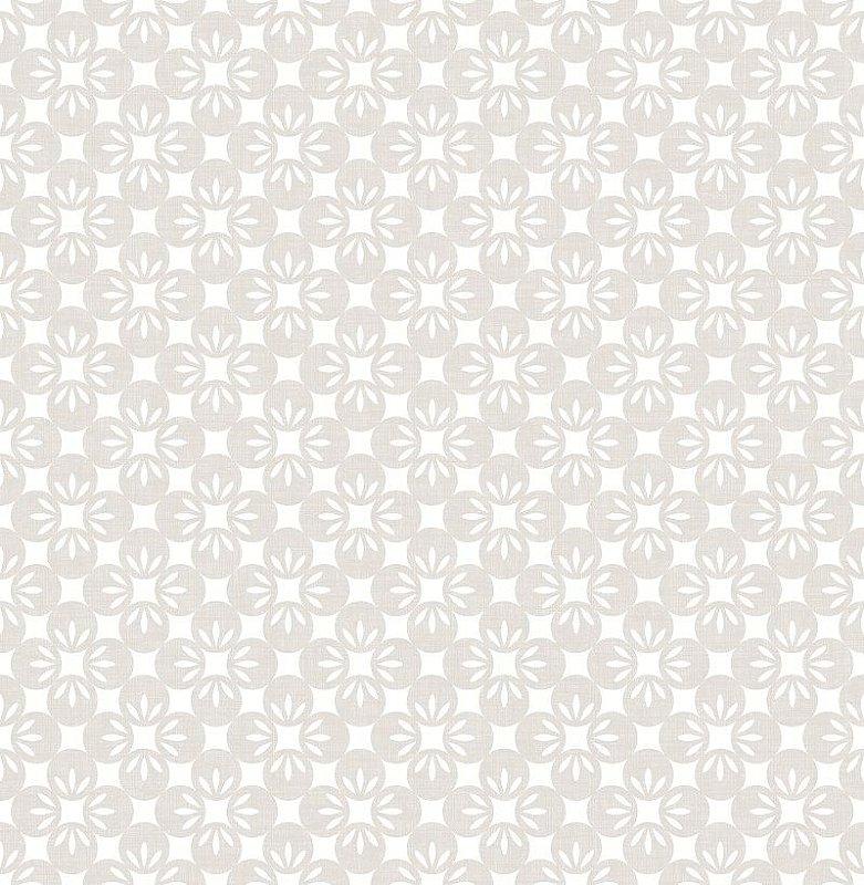 Papel De Parede Twist 10x0.52m Floral Cinza Claro