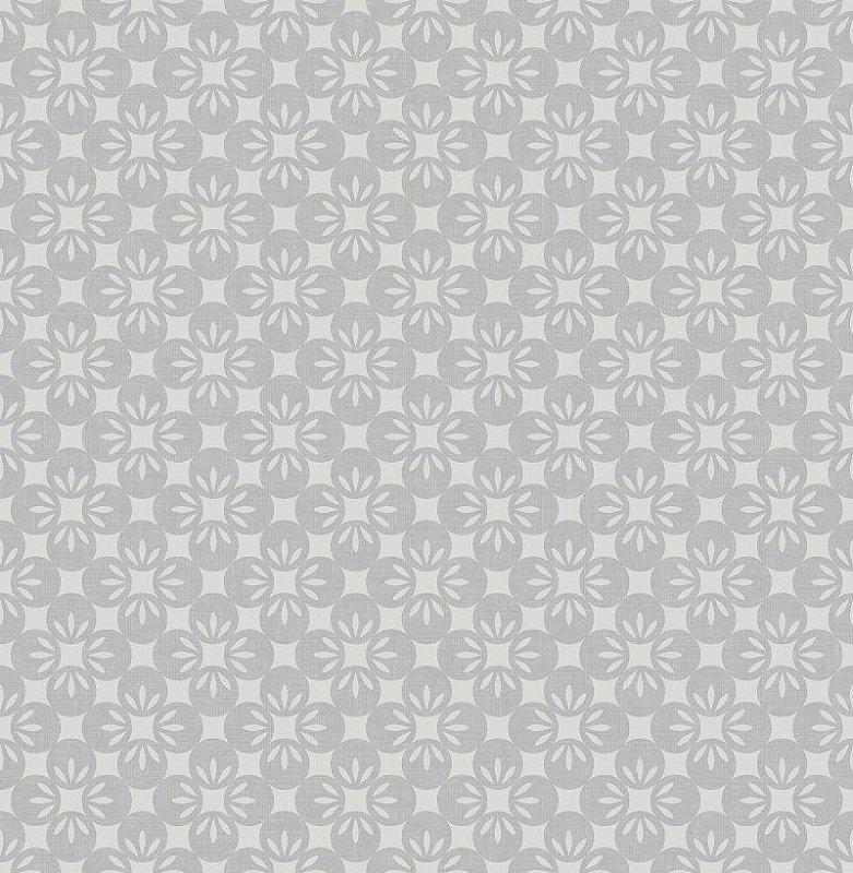 Papel de parede twist 10x0.52m floral cinza medio
