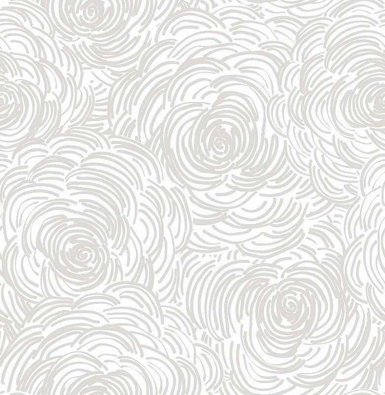 Papel De Parede Twist 10x0.52m Floral Bege