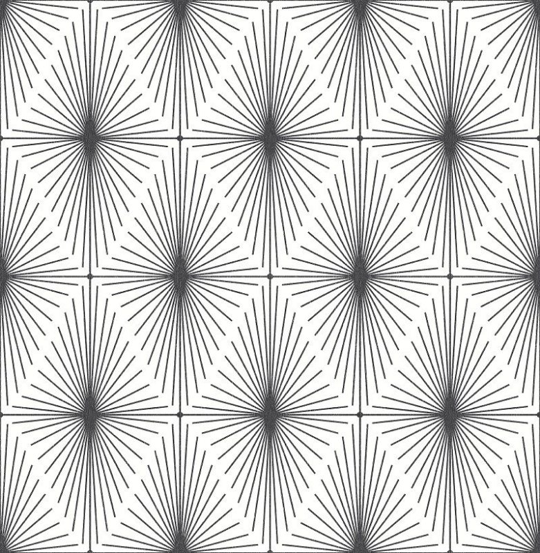 Papel De Parede Twist 10x0.52m Geometrico Preto